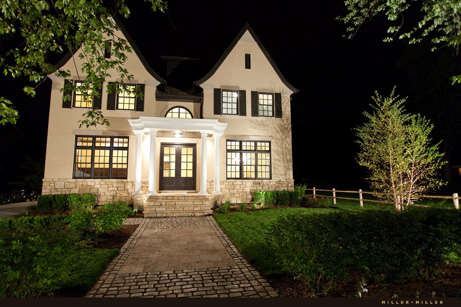 architectural photographer night shot hinsdale illinois