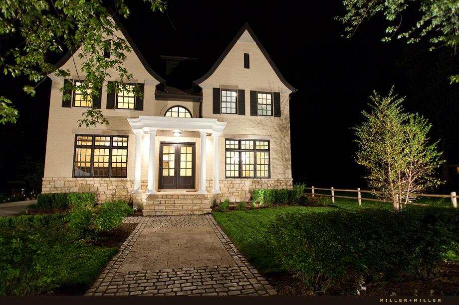 architectural photographer night shot hinsdale illinois