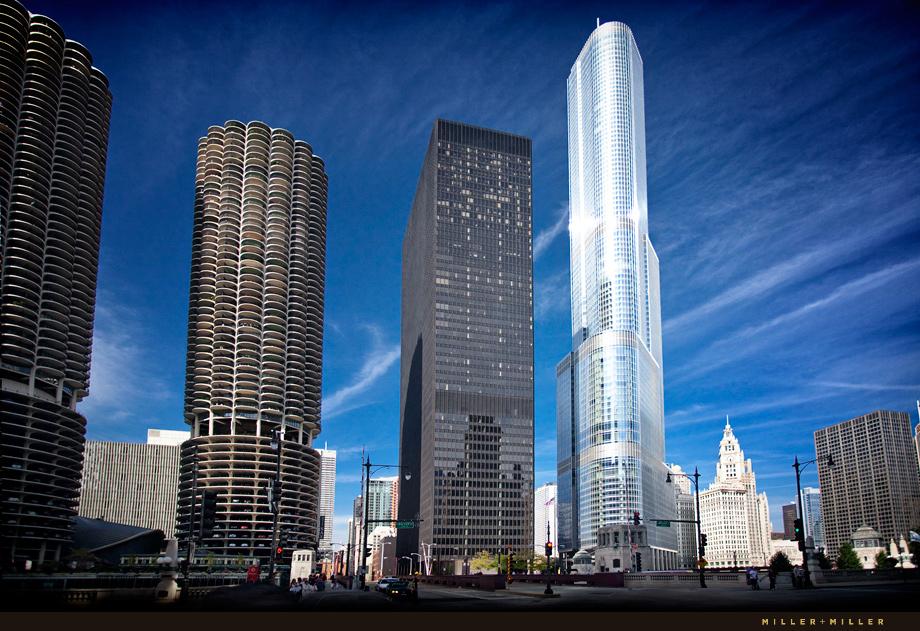 Chicago Architectural Photographer High Rises Skyscraper Trump International