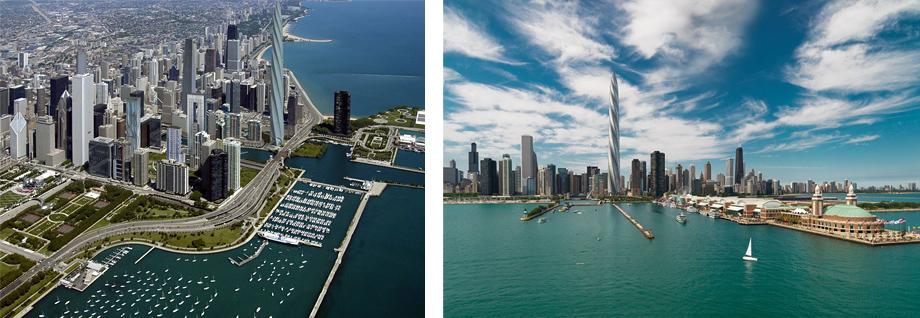 Chicago Spire Aerial