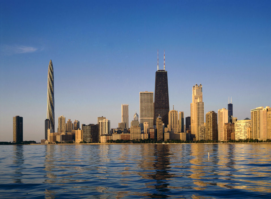 Chicago Spire Skyline