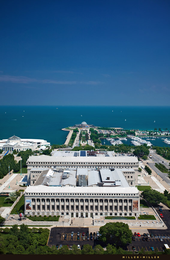 chicago field museum aerial photography