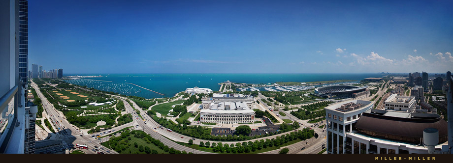panoramic chicago architectural photography