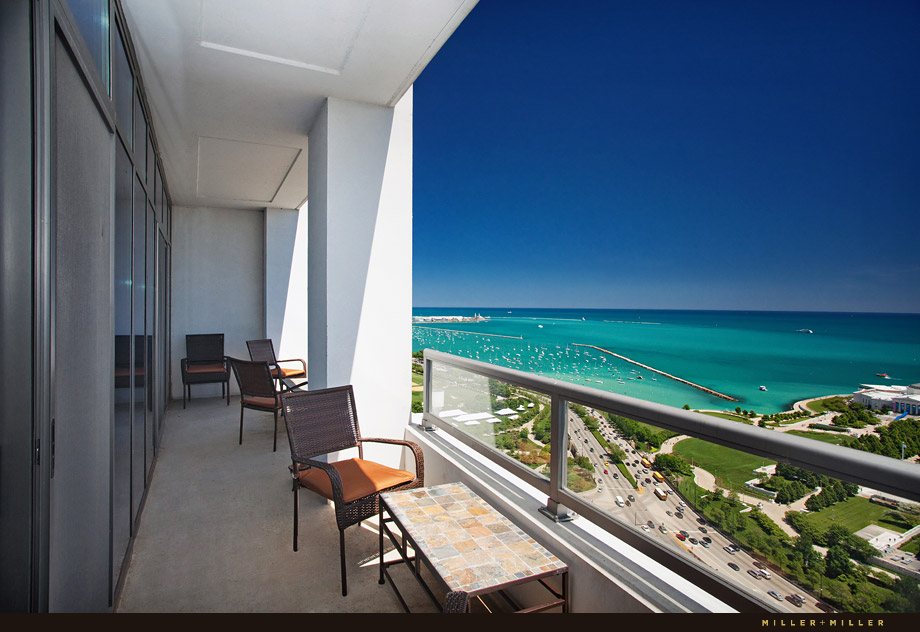 penthouse condo lake michigan view photography