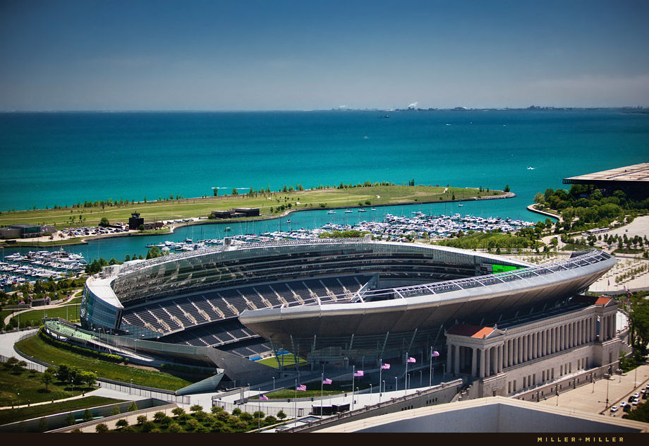 soldier field aerial photography