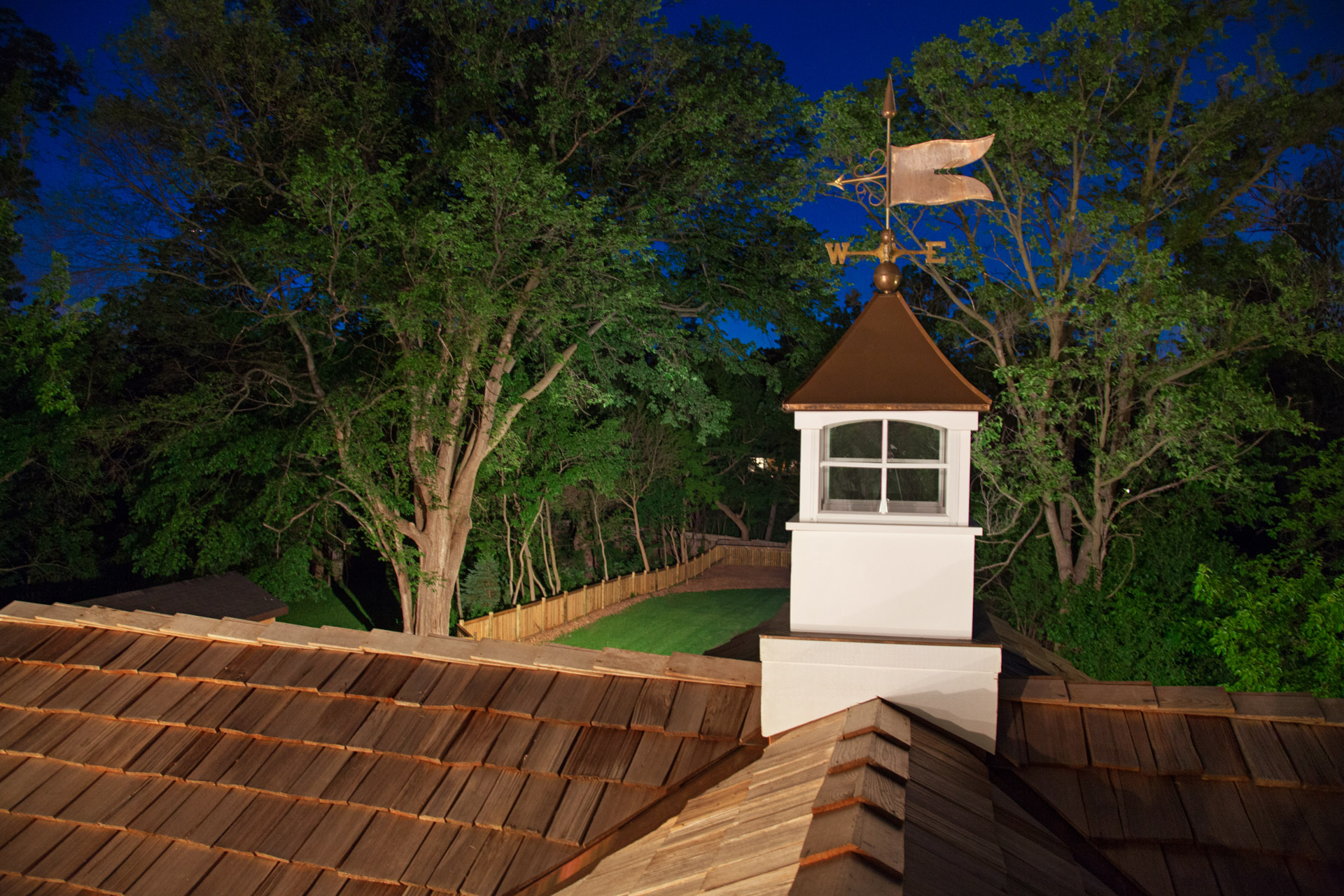 Cedar shake shingle roof