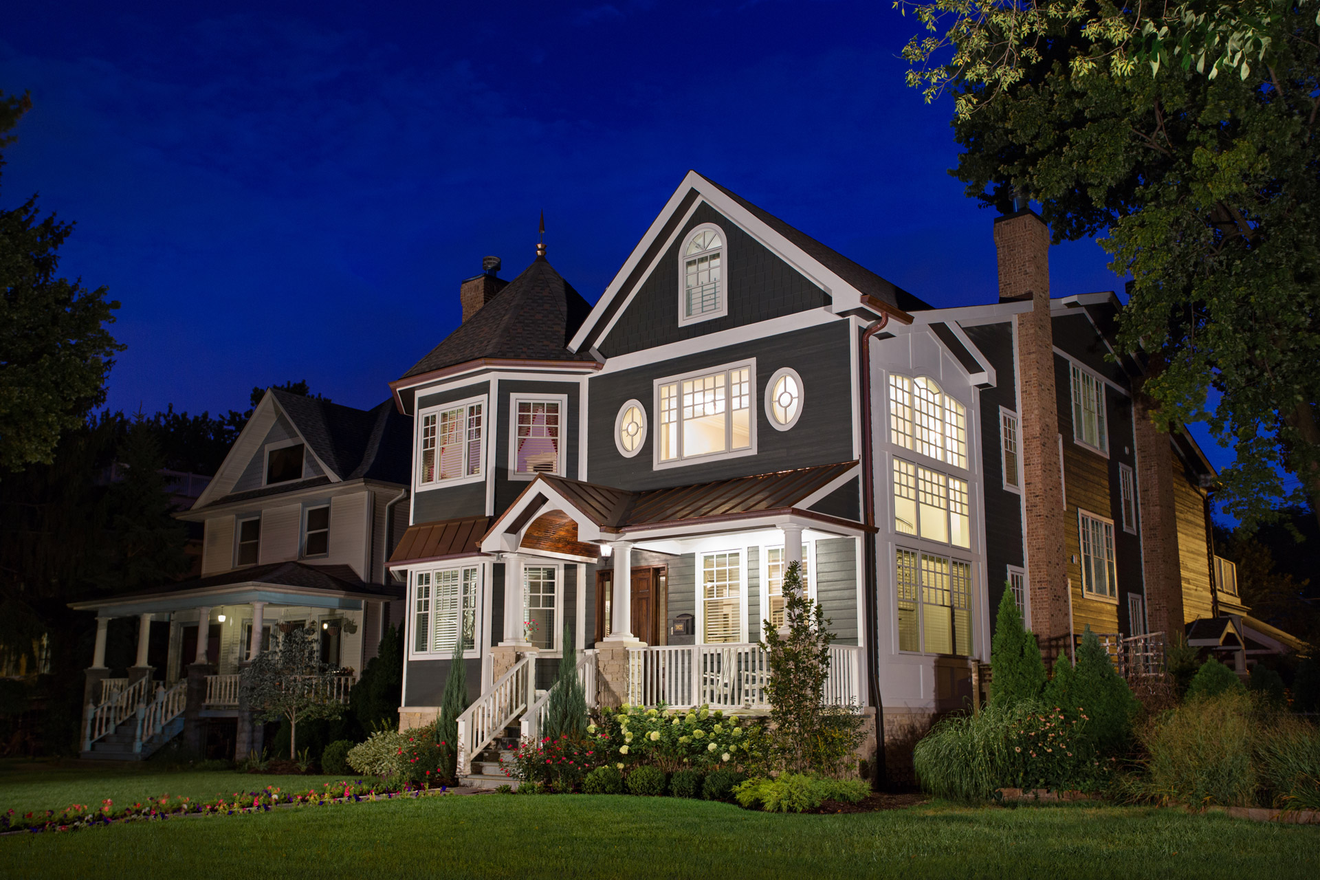 chicago illinois exterior architectural photography luxury custom