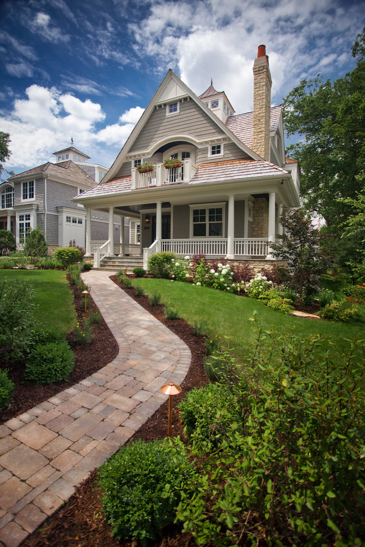 Chicago illinois exterior architectural photography luxury custom home builders photographer il - Cape cod style homes ...