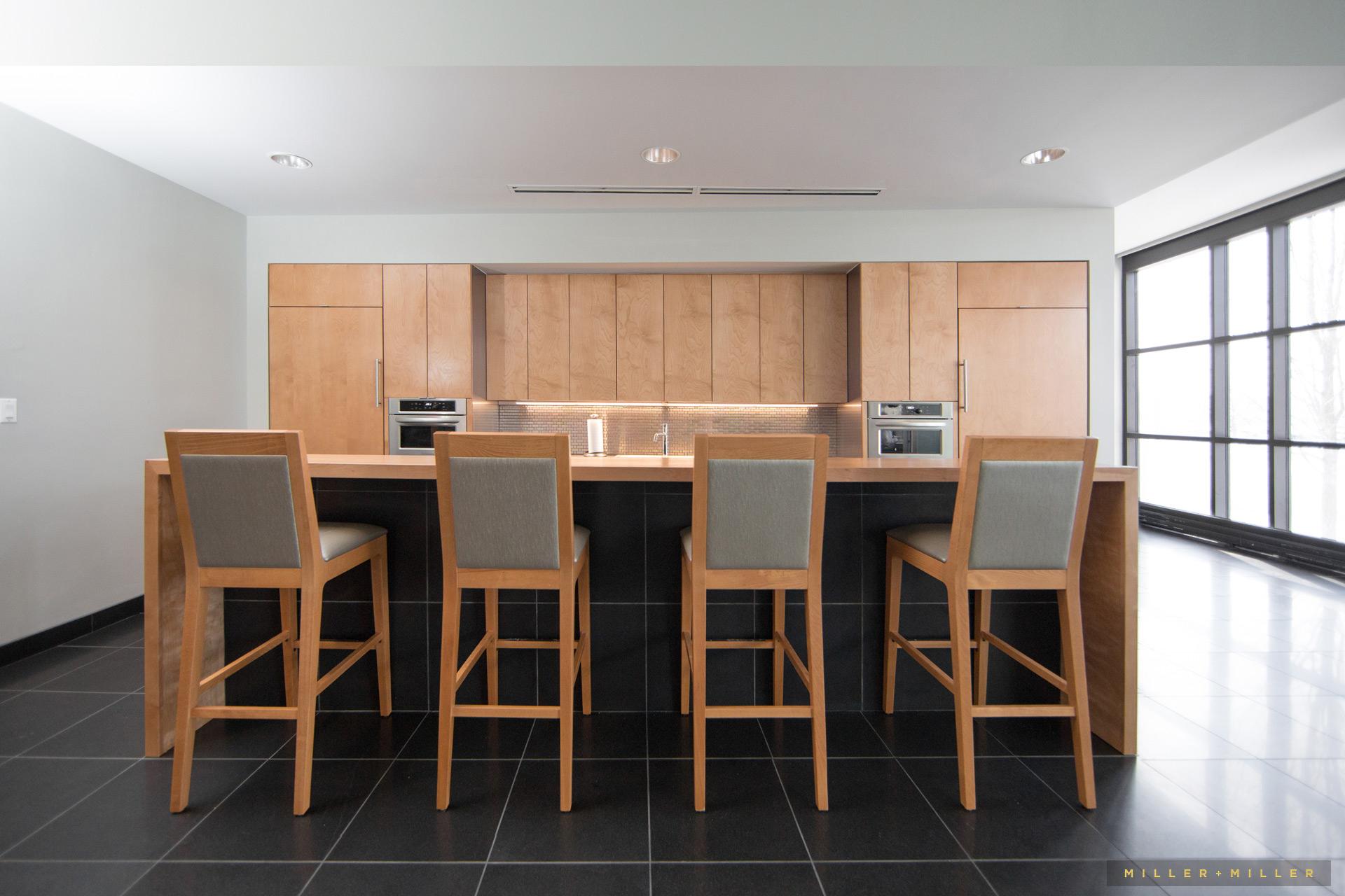 Natural light kitchen barstools