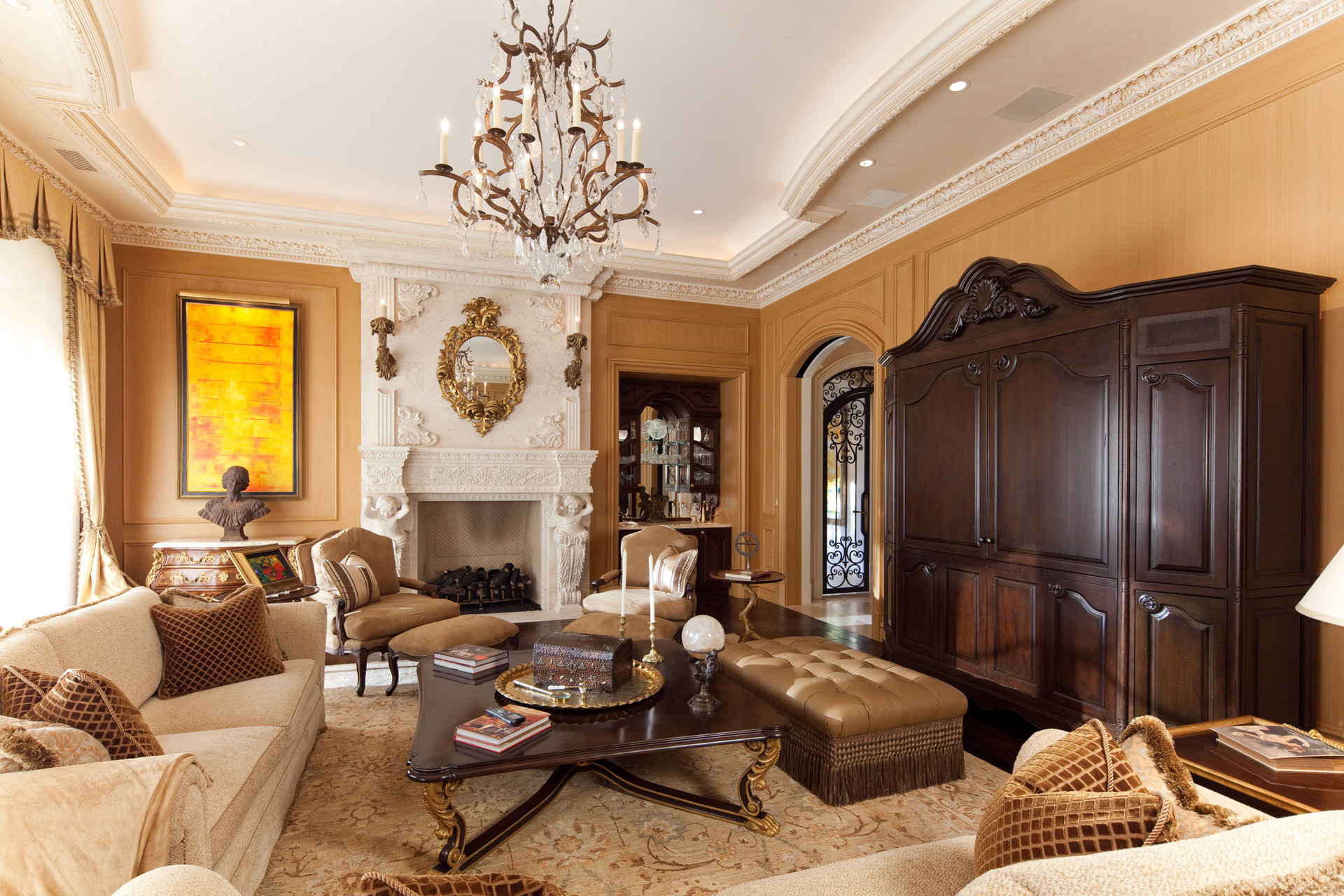 North Shore Living Room Set Chicago Illinois Interior Photographers Custom Luxury Home Builder