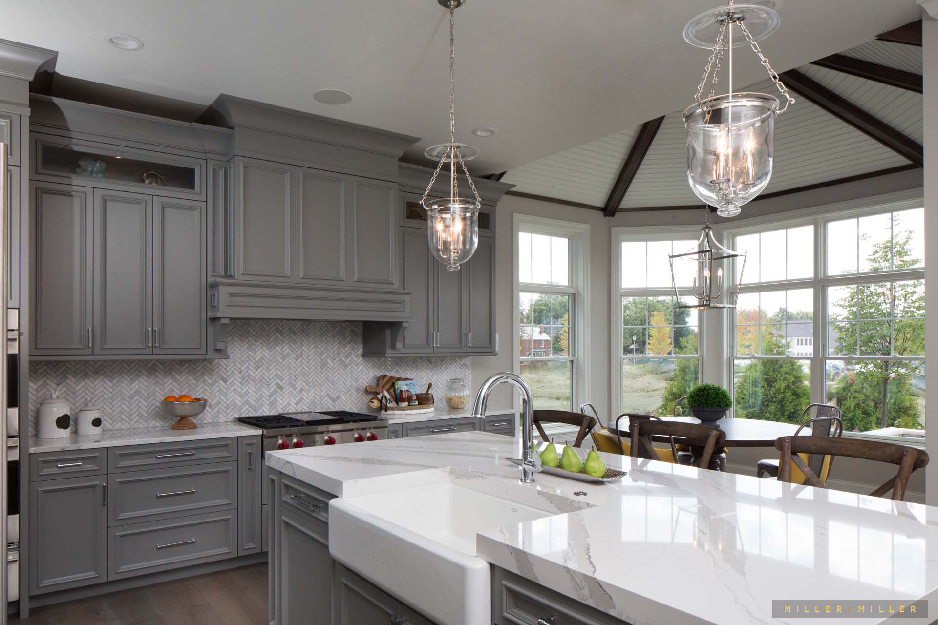 Inspiring Room Modern Nantucket Style Farmhouse Kitchen