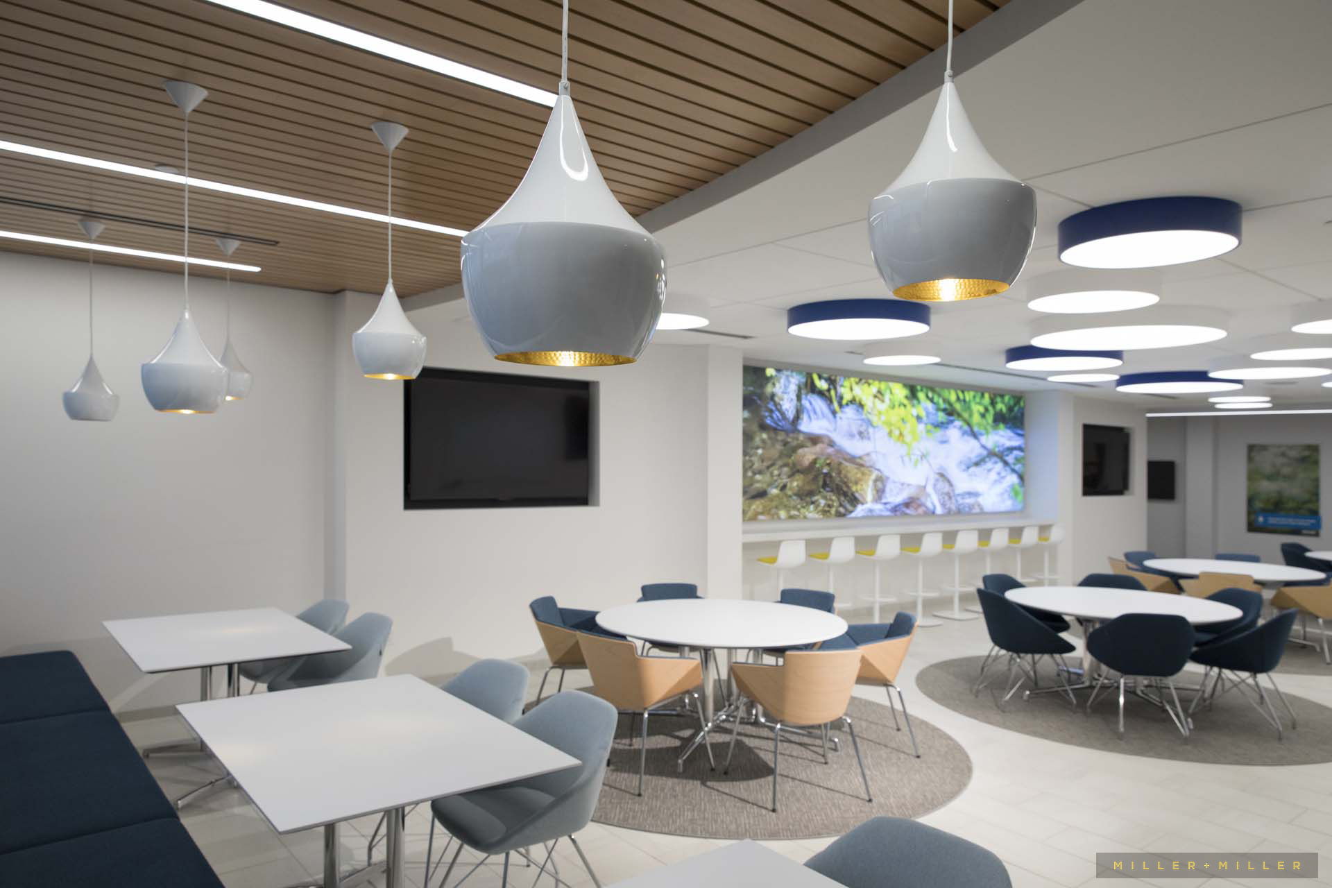 Commercial construction corporate lunchroom cafeteria - Commercial interior design chicago ...