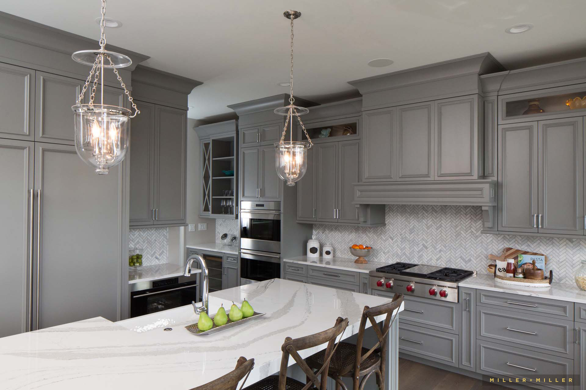 Luxury White And Gray Kitchens