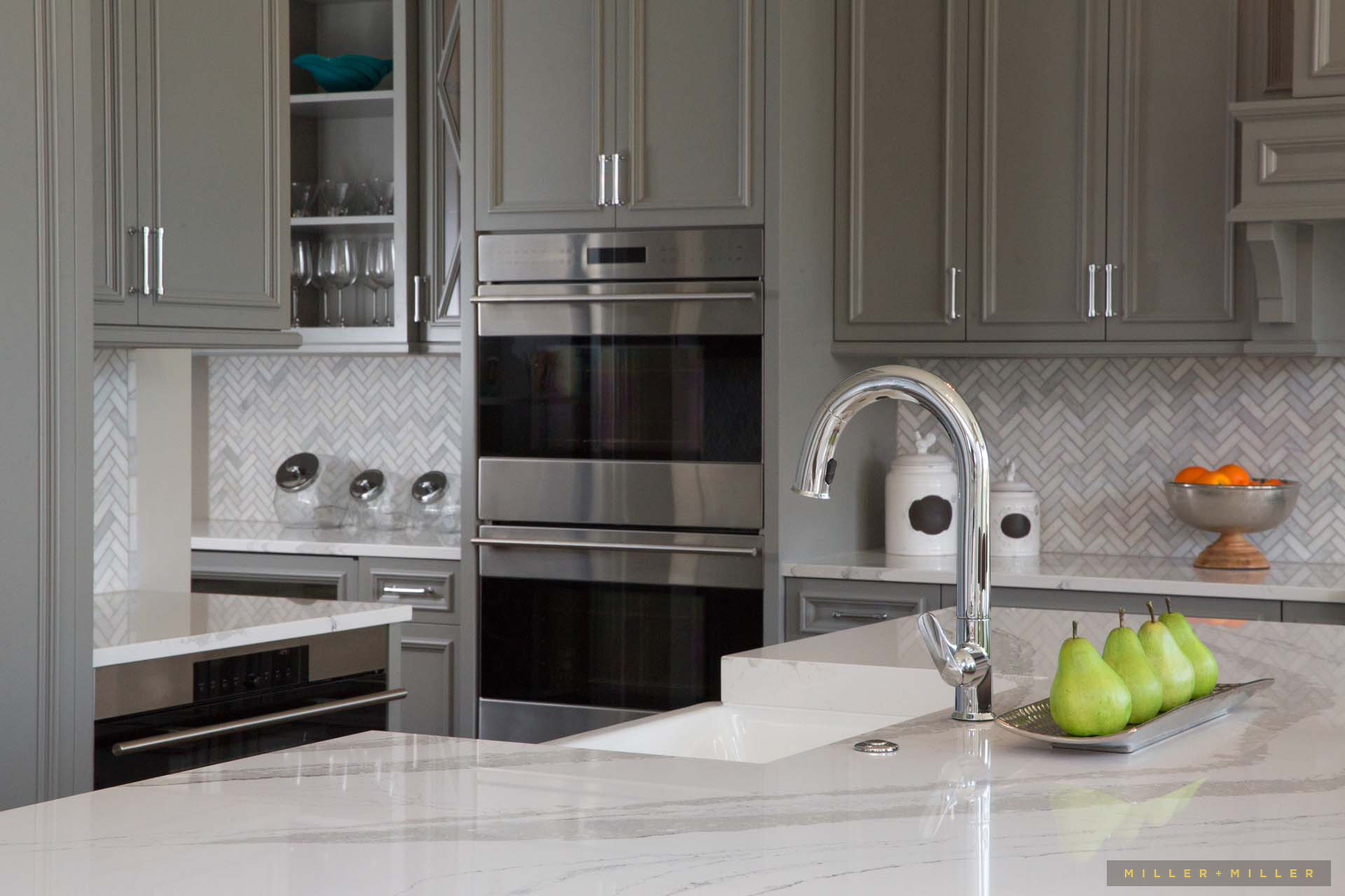 kitchen quartz white countertops