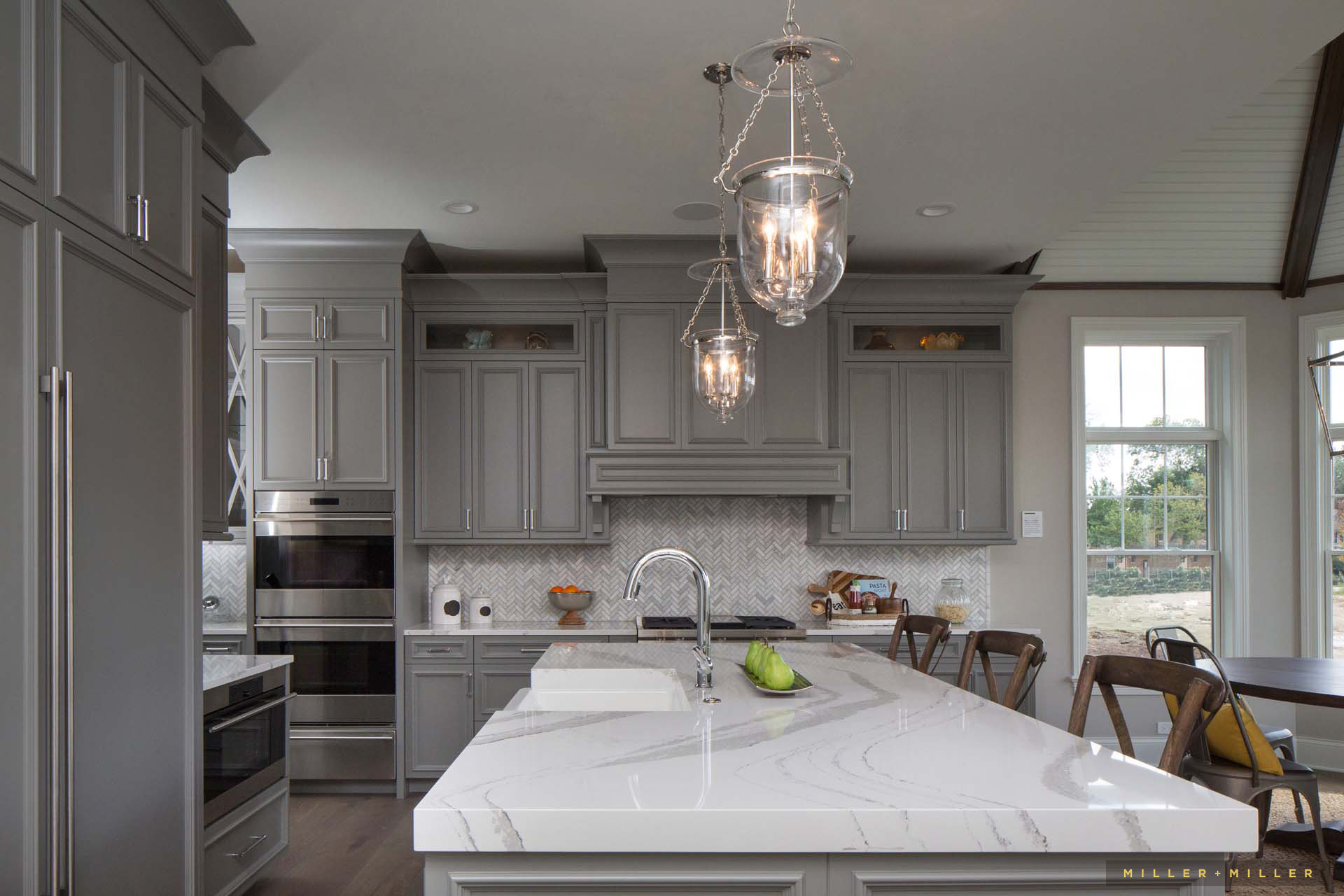 luxury-home-gray-kitchen-cabinets