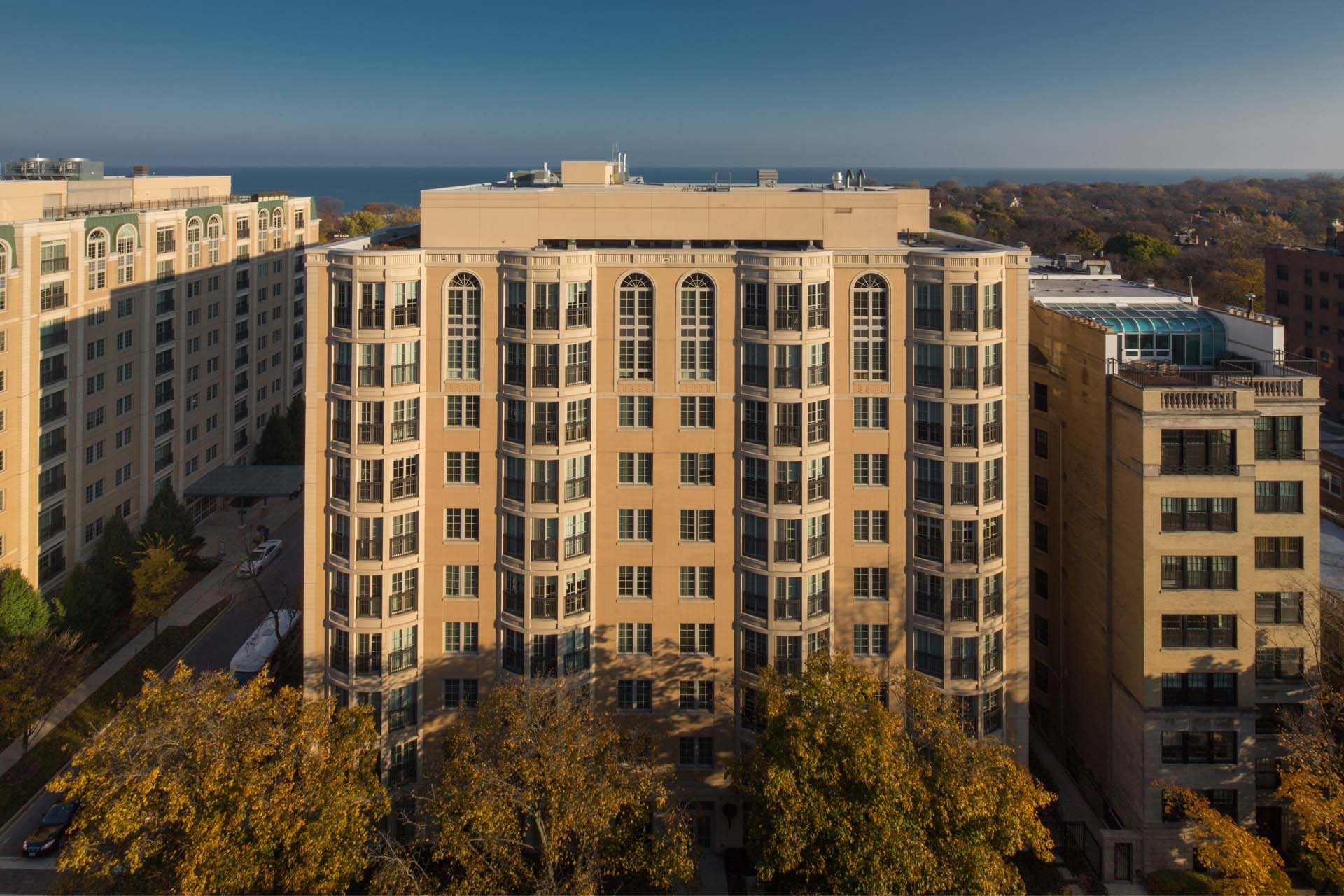 Apartment Building Drone Photos