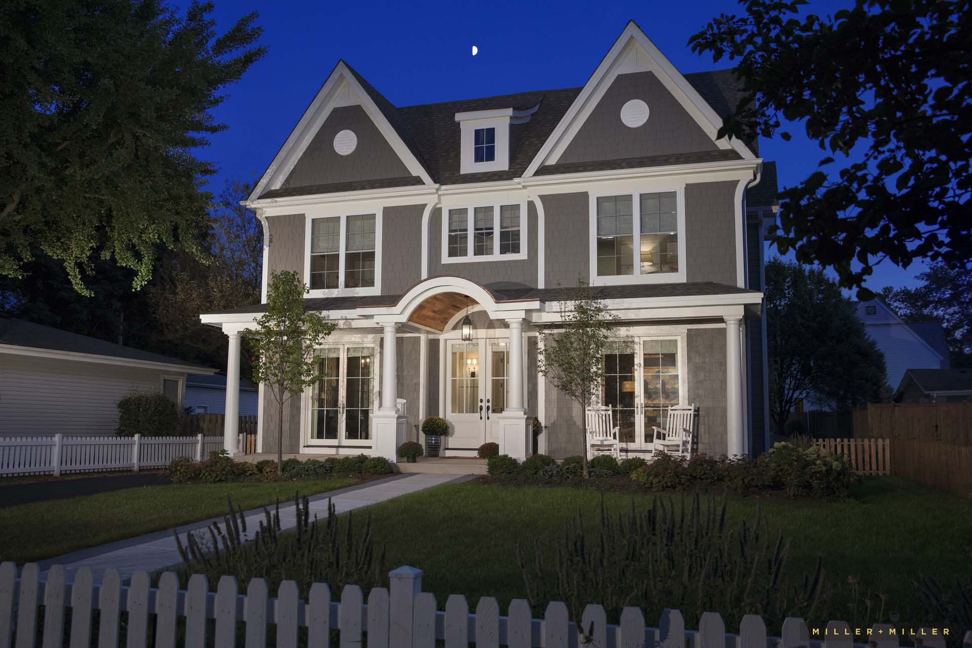custom-built-home-night-photos