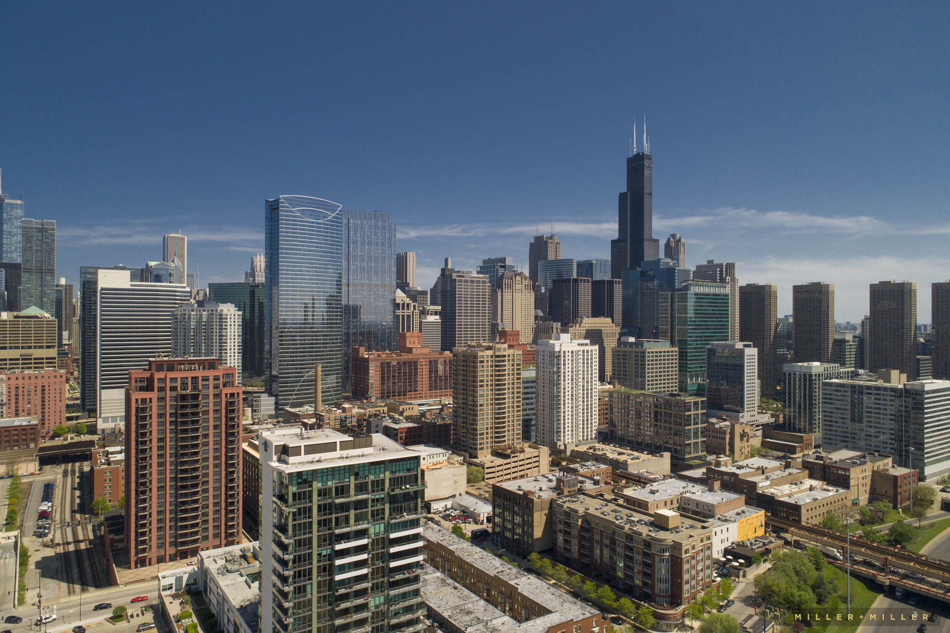 Skyscrapers Chicago Skyline Drone Building Photos