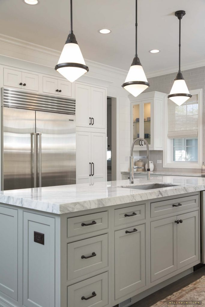 white-gray-custom-kitchen-island