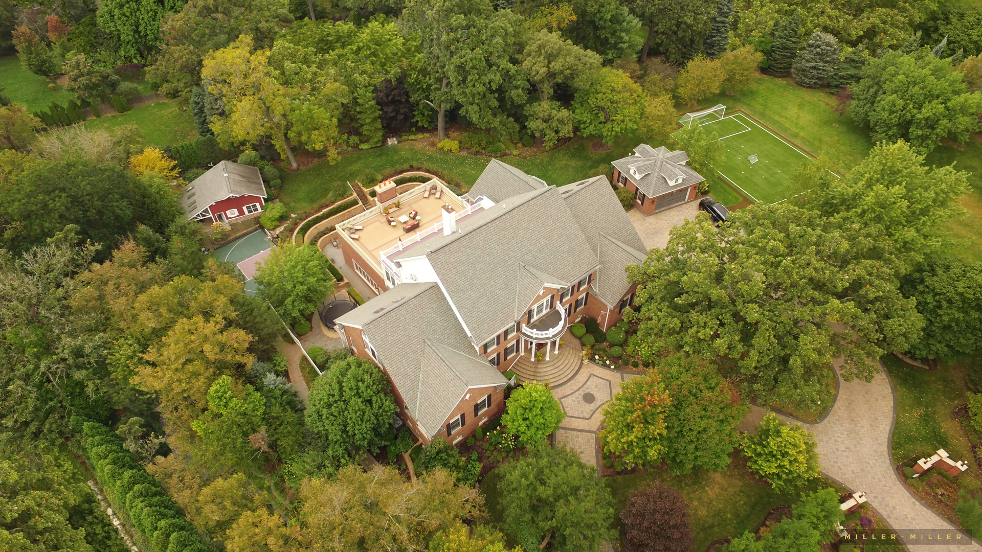 Chicago drone Michigan Lake House residential real estate photographers