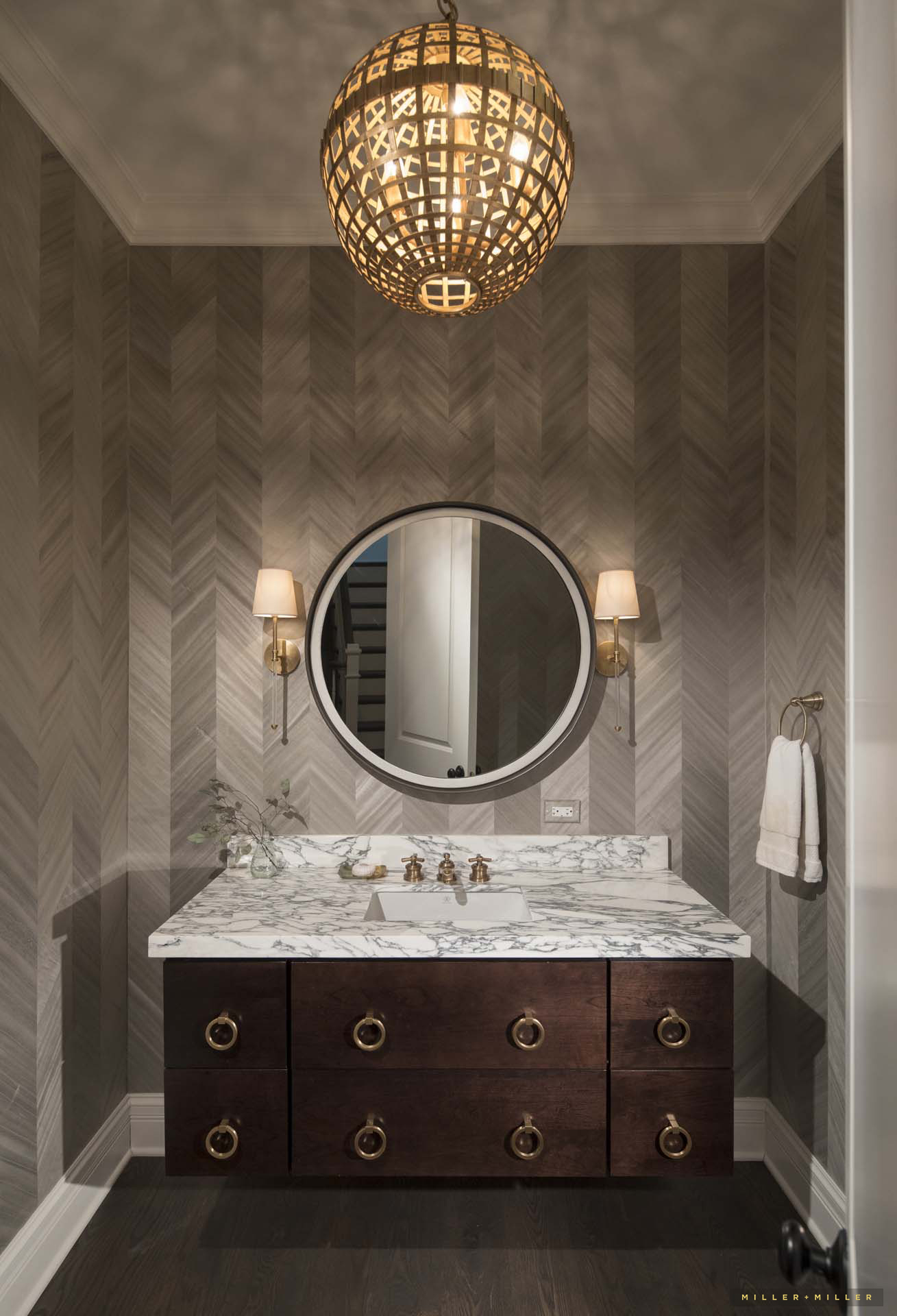 Custom Home Powder Room Photos