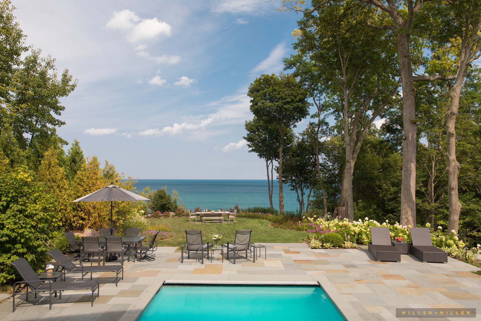 Lake Waterfront Ocean Pool Mansion Michigan