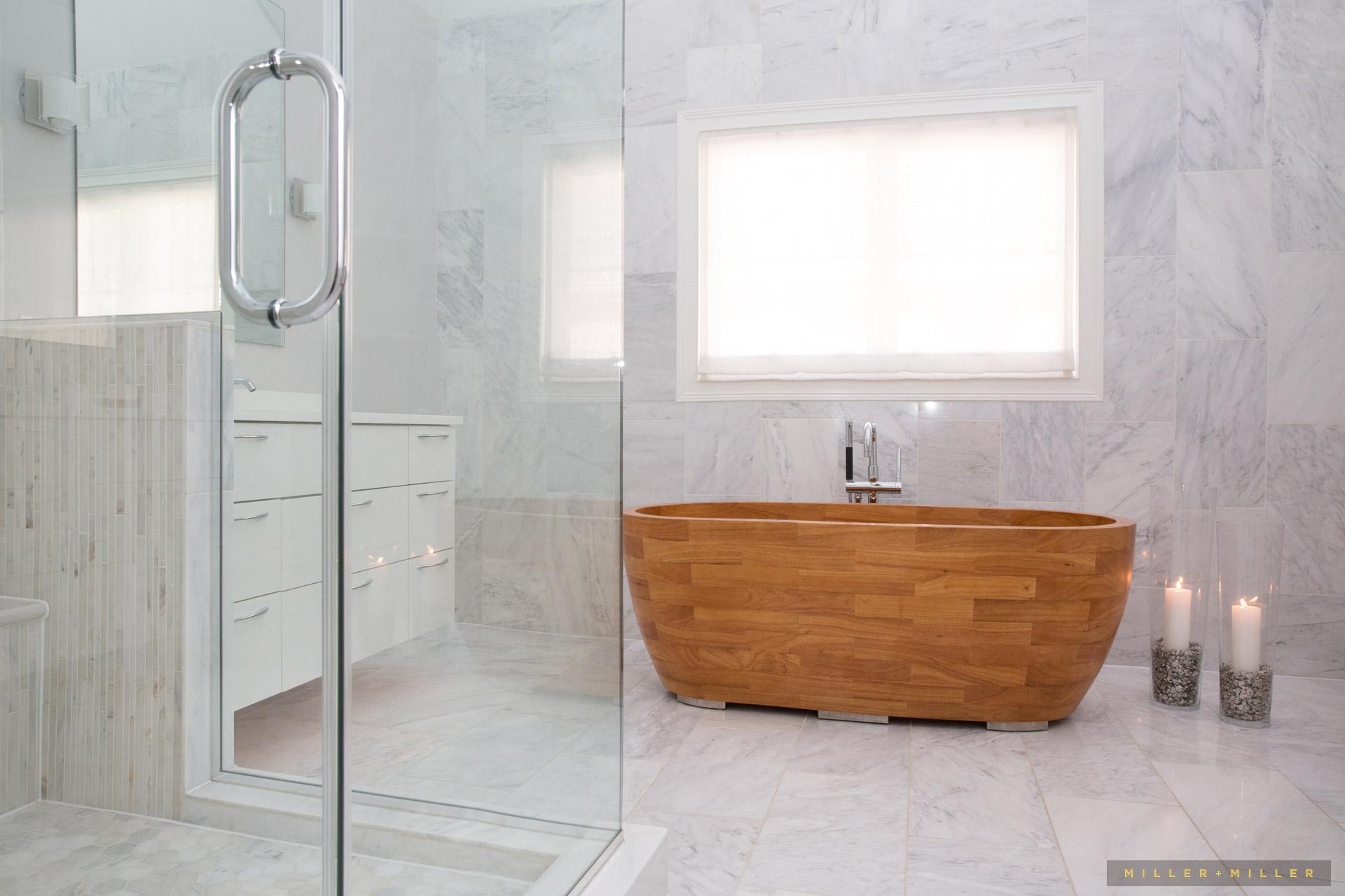 luxury bath coastal interior beach house