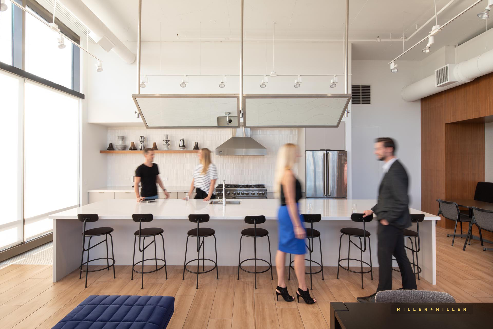 Chicago architectural photography luxury kitchen people photo