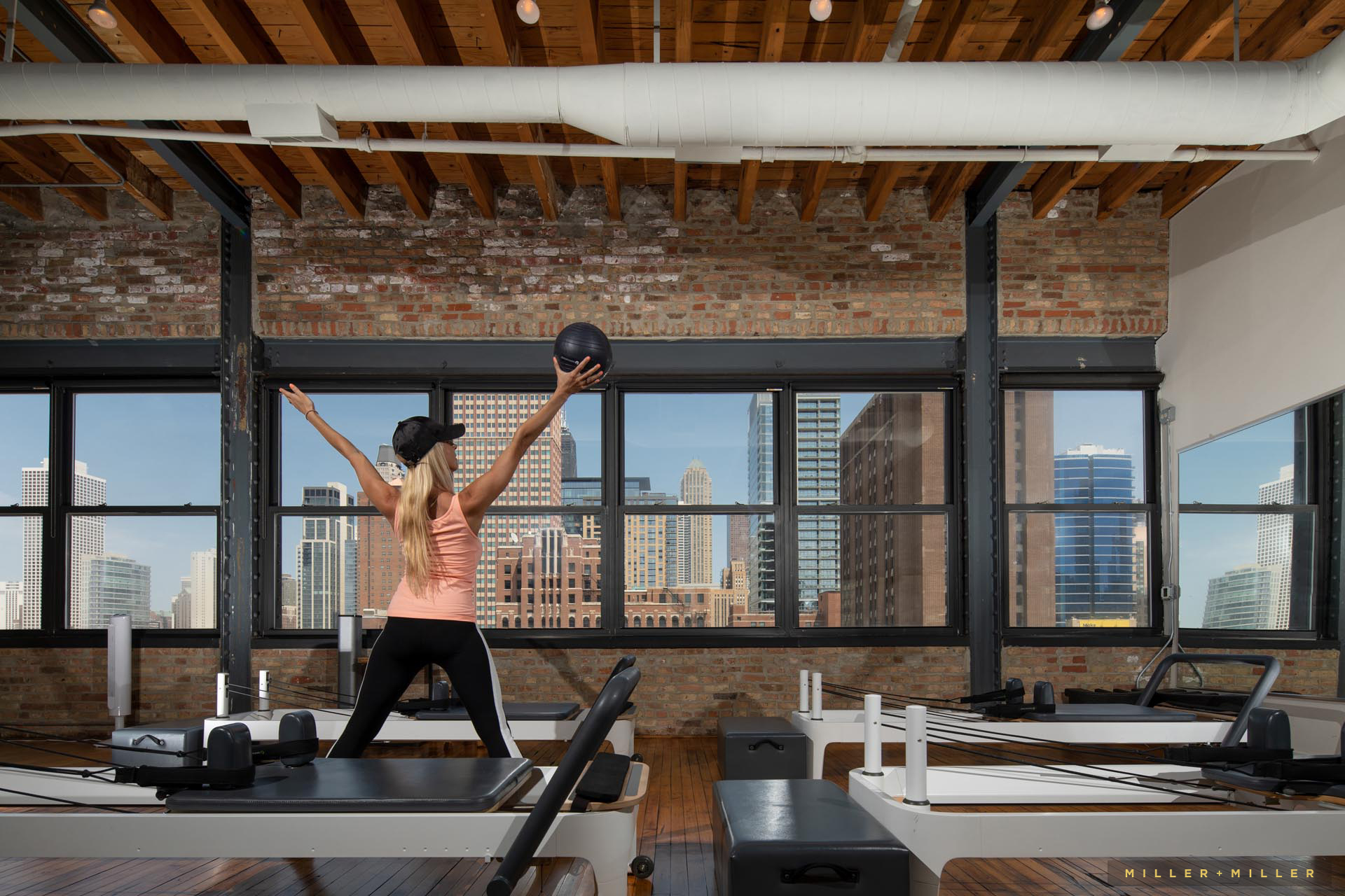 Chicago exercise yoga pilates studio interior photographer