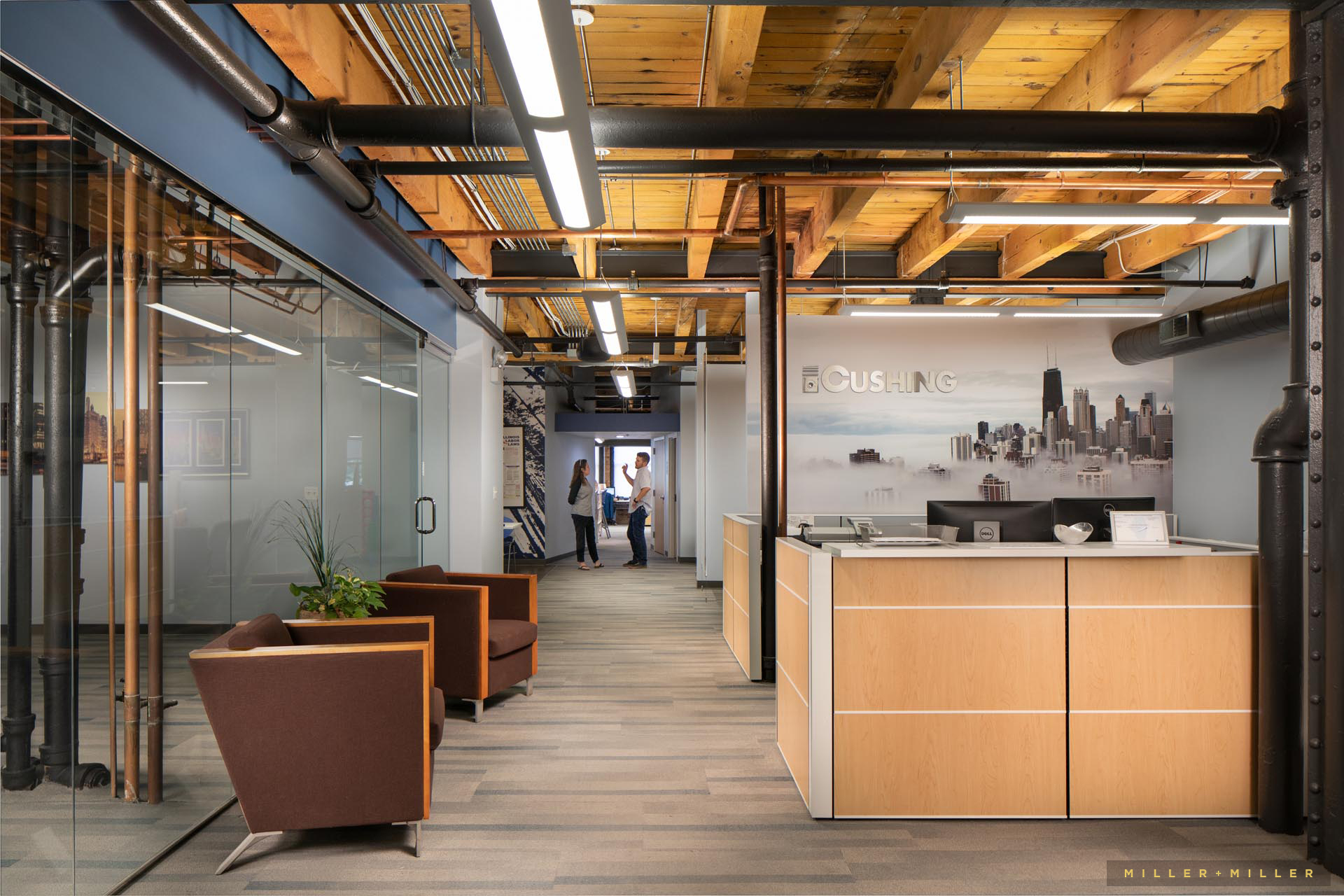 Chicago Milwaukee office architectural interior photography people
