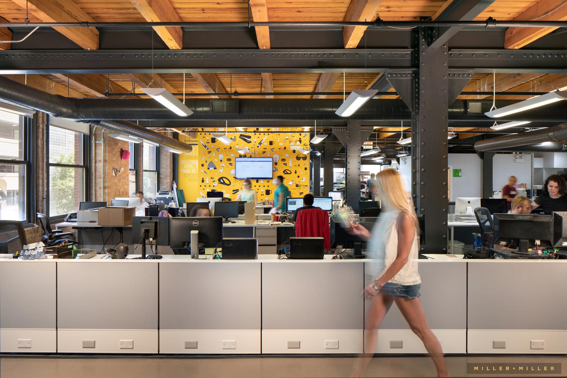 creative Chicago loft office interior photography