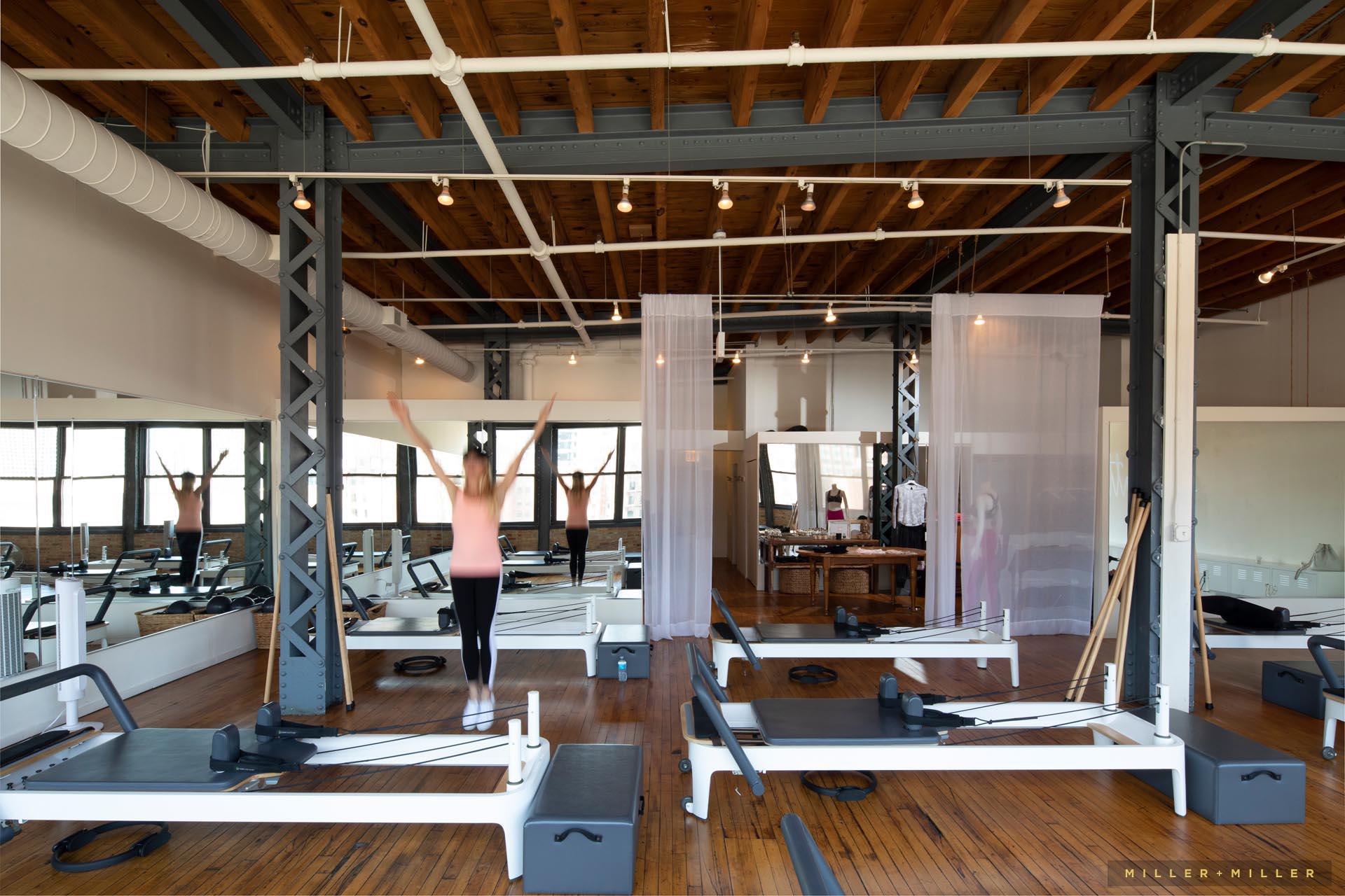 gym fitness class center interior photography