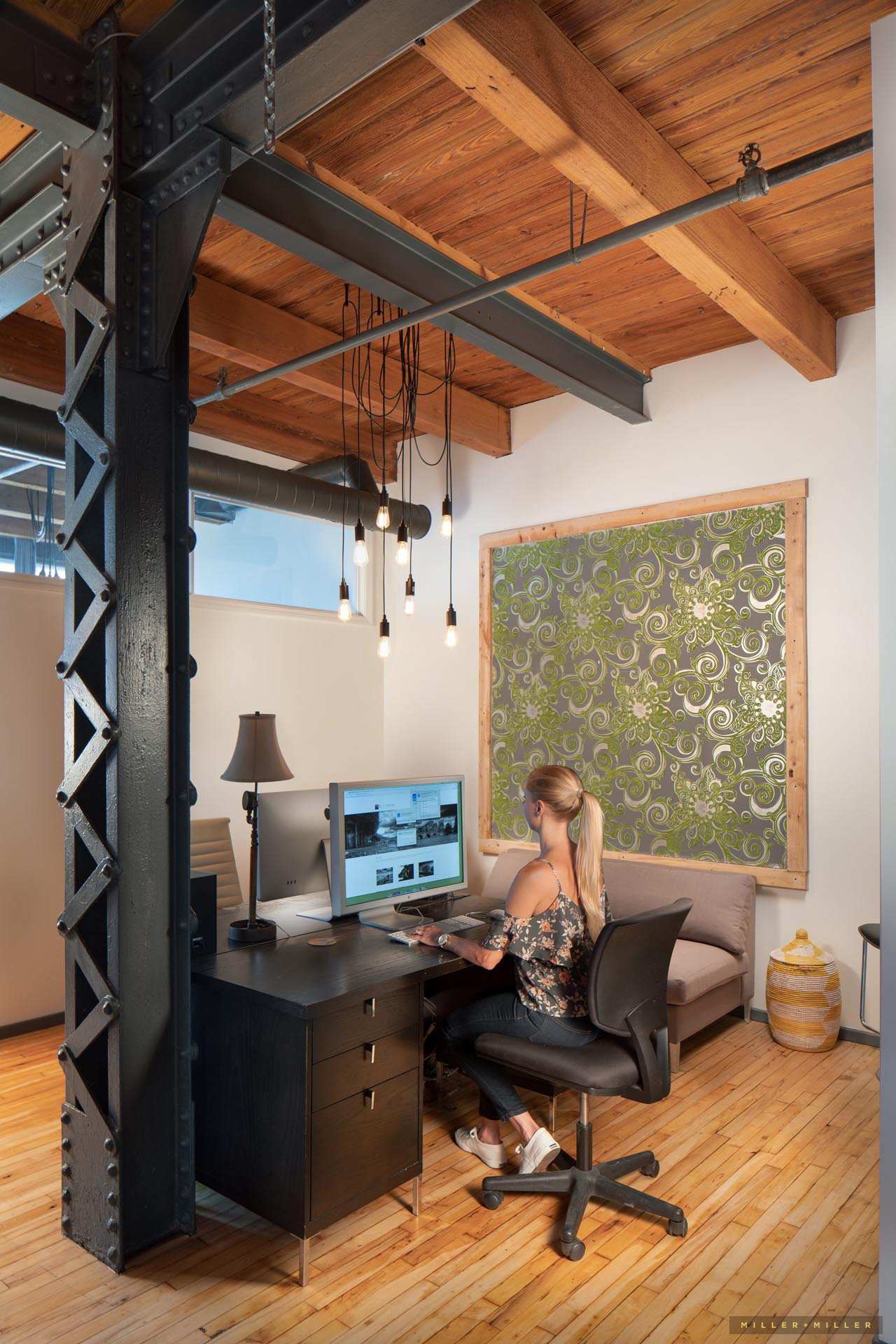 Loft River West Loop environmental people interior room photography