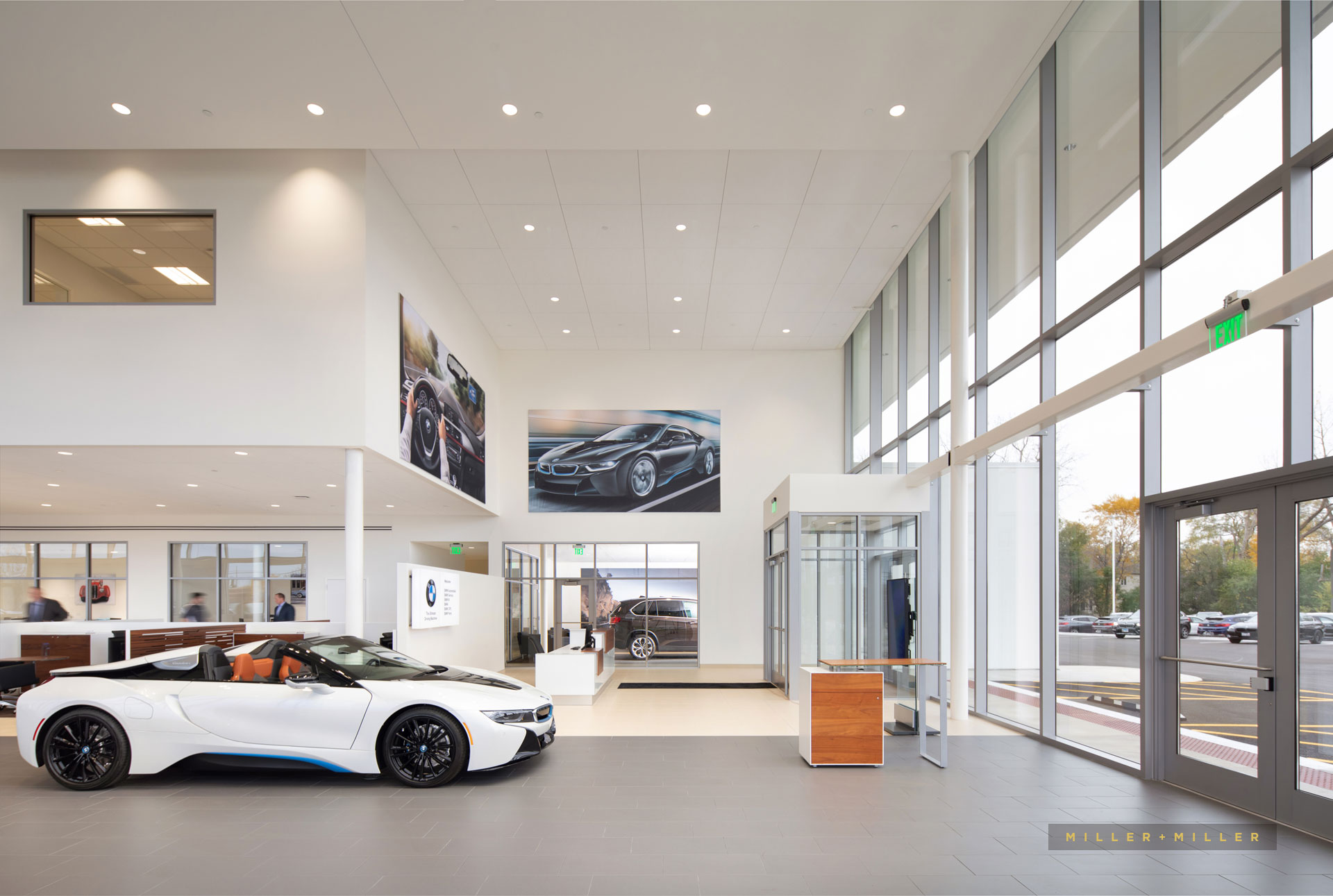 Chicago car auto dealership interior photography