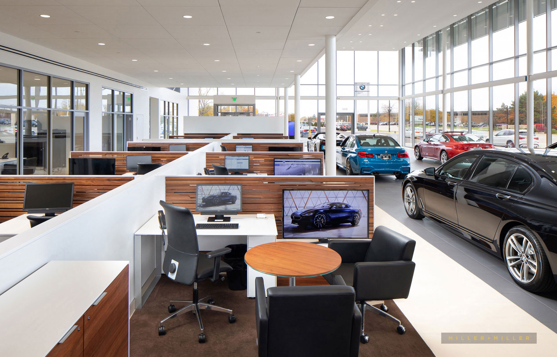 Detroit auto dealer showroom interior photos