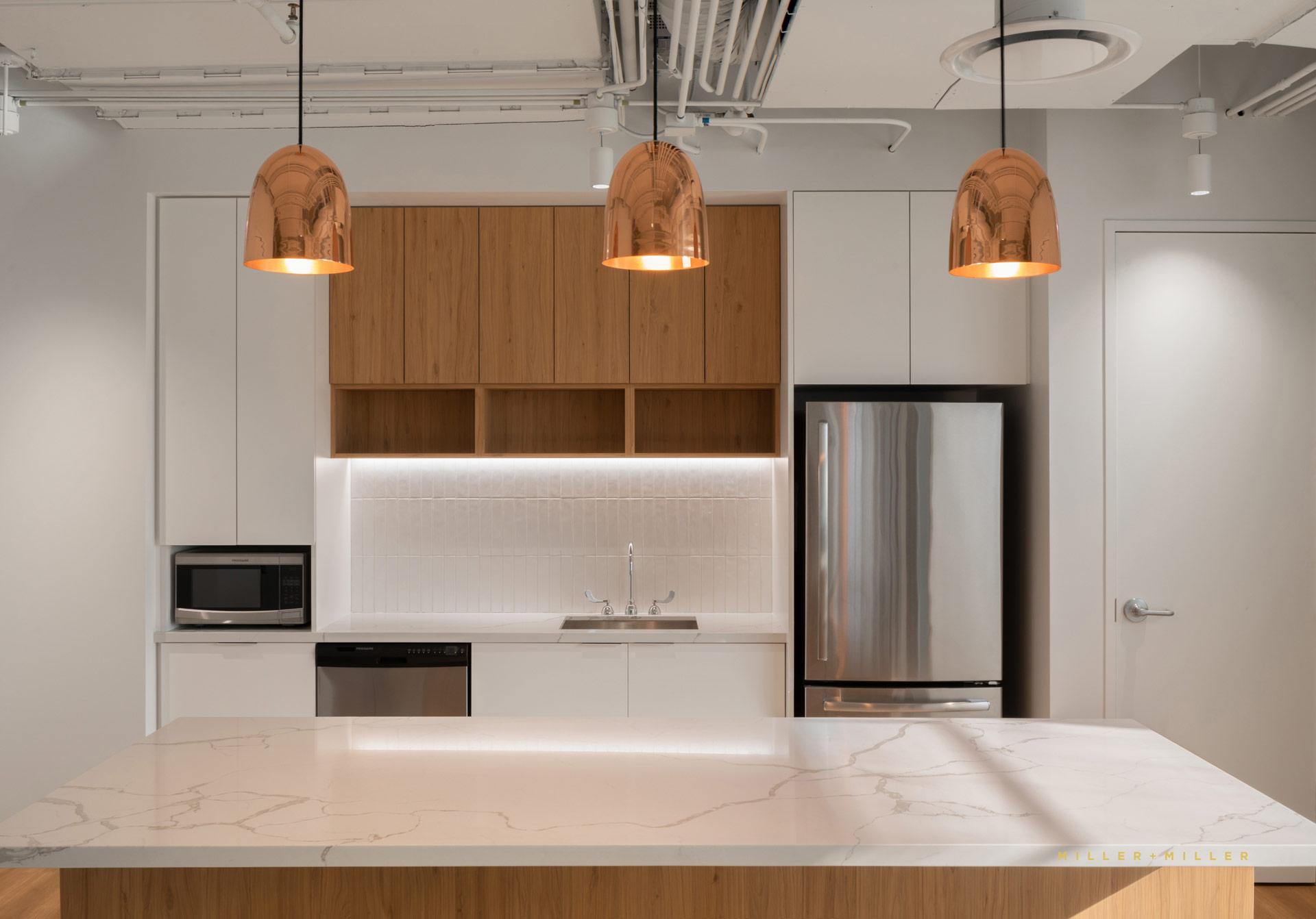 Copper Pendant Lights White Kitchen