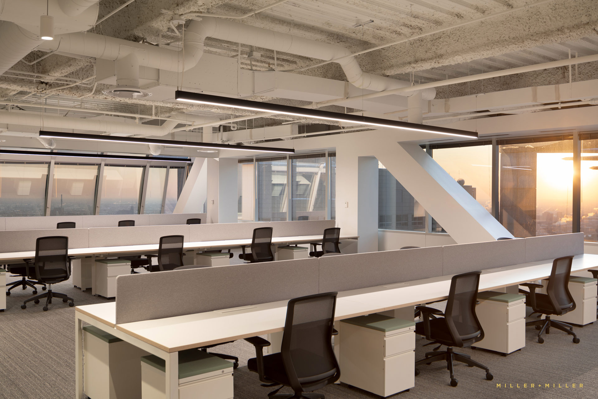 Office View Windows Skyline