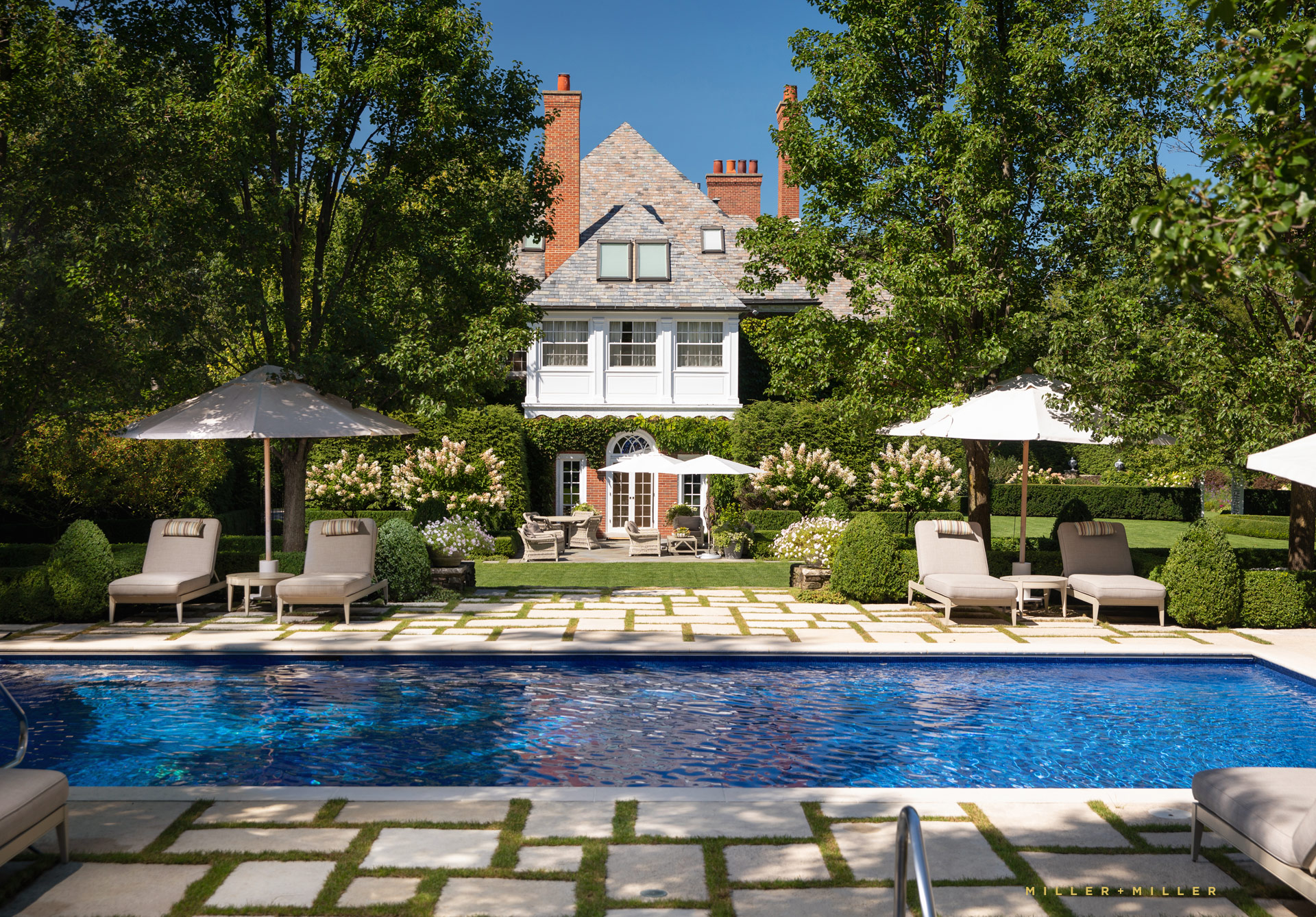 Custom In Ground Pool Patio Winnetka