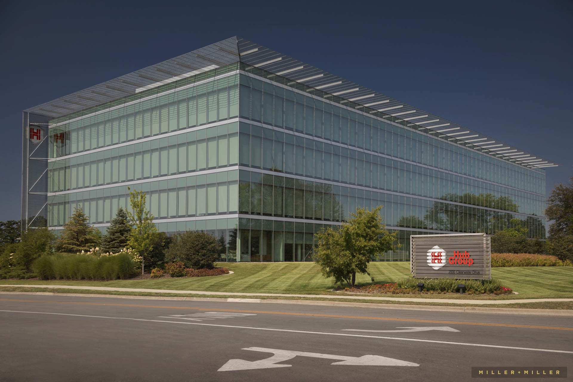 Hub Group headquarters Oak Brook building photography